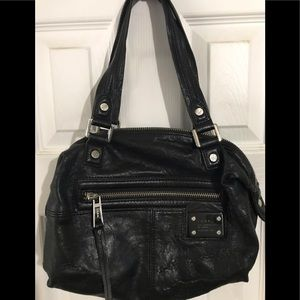 L.A.M.B. Black leather handbag